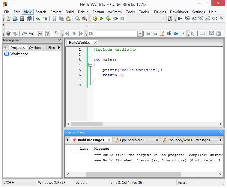 codeblocks starting to code kuppiya.lk 5.JPG